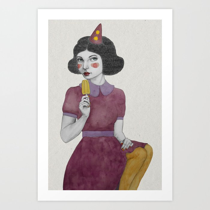 Andria dressed more colourful Art Print