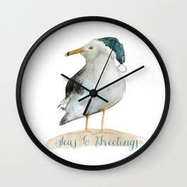 Seas & Greetings Coast Christmas Wall Clock
