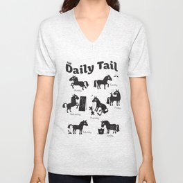 The Daily Tail Horse Unisex V-Neck