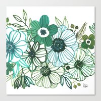 oana befort Canvas Prints featuring FLORALS by Oana Befort