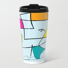 bird and open box Metal Travel Mug