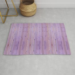 Purple Wood Pattern Rug