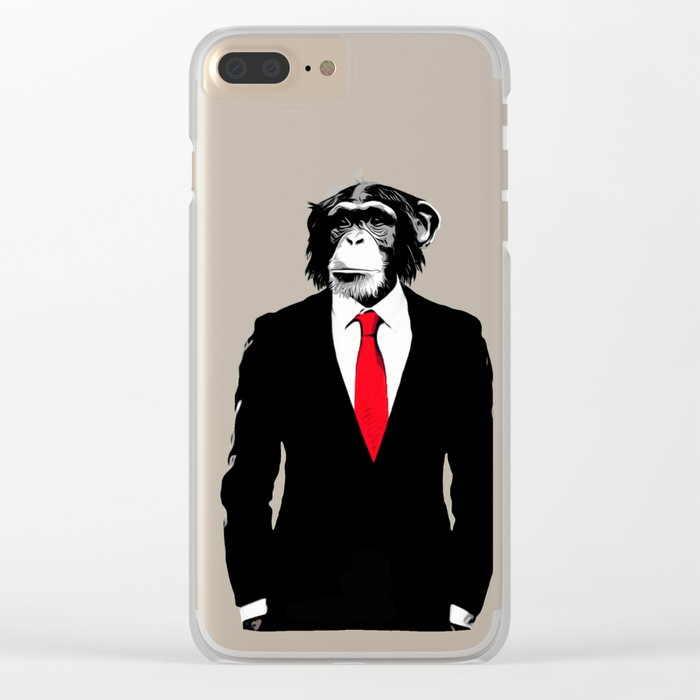 Domesticated Monkey Clear iPhone Case