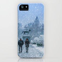 Snow in Boston iPhone Case