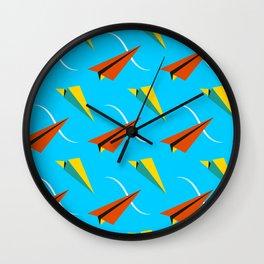 Papper Plane Wall Clock