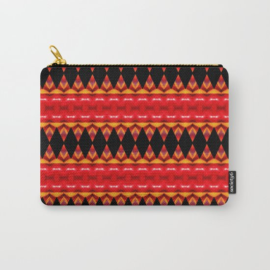 Black Diamonds on red Carry-All Pouch