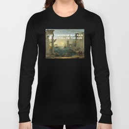 Seaport with the Embarkation of the Sun Long Sleeve T-shirt