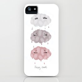 pink clouds iPhone Case