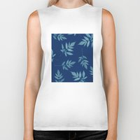 botanical Biker Tanks featuring Botanical by Jody Edwards Art