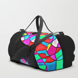 Stained Glass Yin And Yang Duffle Bag