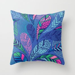 Feather Doodle Throw Pillow