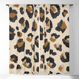 Leopard Print – Neutral Gold Light Palette Blackout Curtain