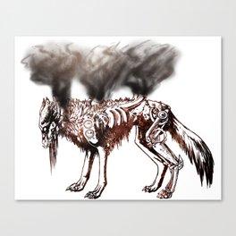 Smoke and Metal Disciple - Rust Canvas Print
