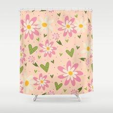 Faye's Flowers Shower Curtain