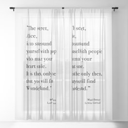 The Secret Quote, Alice In Wonderland Sheer Curtain
