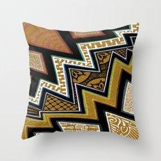 Intense Zig-zagging Throw Pillow
