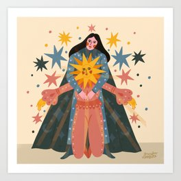Hold Me Tight So I Can Shine Brighter  Art Print