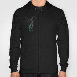 Angel statue canvas goth, raven, crow, gothic lover Hoody