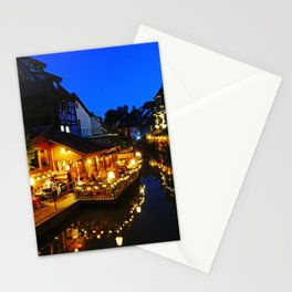 Colmar is still more beautiful in the night - Fine Arts Photography Stationery Cards