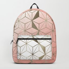 Cubes Collection - Soft Gold Backpack