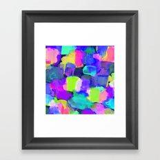 Brushstroke Blue Framed Art Print