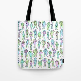 Nudie Dude-ies: A spectrum of fun and colorful naked people! Tote Bag