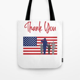 Thank You For Your Service Patriotic Veteran Tote Bag