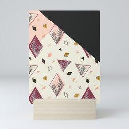 Rhombus&Palms #society6 #decor #buyart Mini Art Print