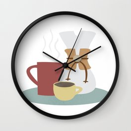Coffee (Pour Over) Wall Clock
