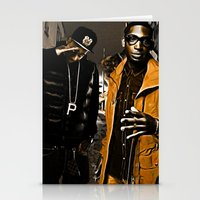 wiz khalifa Stationery Cards featuring Wiz & Tempah by D77 The DigArtisT