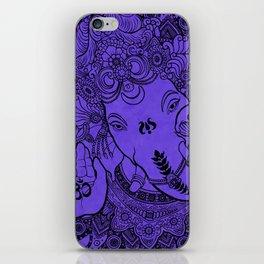 Ganesha Lineart Lilac iPhone Skin