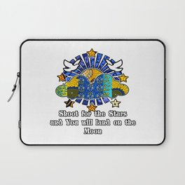 Shoot for the stars and you'll land on the moon Laptop Sleeve