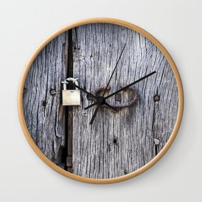 Hidden Door Wall Clock