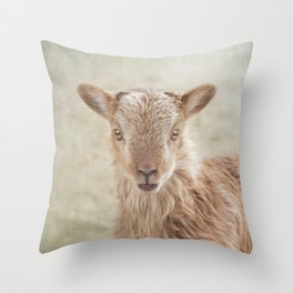 Baby Soay Sheep Throw Pillow