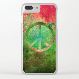 Peace IV Clear iPhone Case