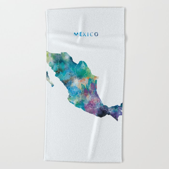 Mexico Beach Towel By Artsaren Society6
