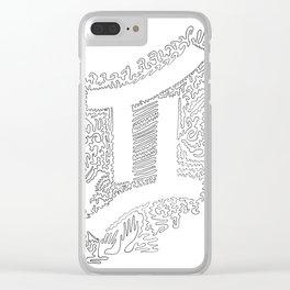 Gemini Unbroken Line Art Clear iPhone Case