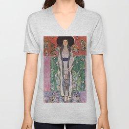 "Gustav Klimt ""Portrait of Adela Bloch-Bauer"" II Unisex V-Neck"