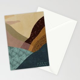 Desert Lakes Abstract Stationery Cards