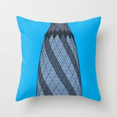 London Town - The Gherkin Throw Pillow