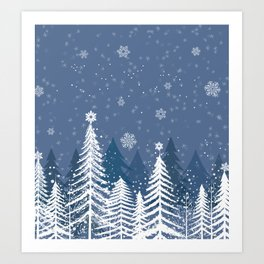 Winter Snow Forest Art Print