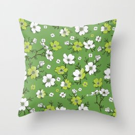 Lovable Flowers Throw Pillow