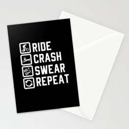 Downhill Downhill Mountain Bike Downhill Bicycle Stationery Cards