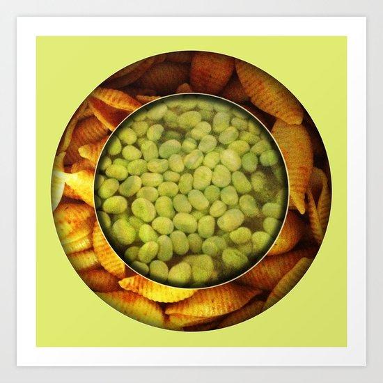 Pasta + Beans Art Print