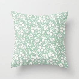 Cute floral pattern. Small white flowers.  Throw Pillow