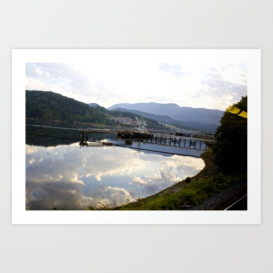 Reflections of Clouds in the crystal blue water Art Print