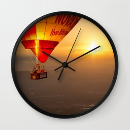 Adrift in the Mist at Sunrise Wall Clock