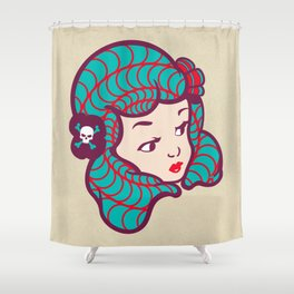 Girl Power Dynamite Laser Beam Shower Curtain