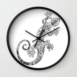 ornate gecko Wall Clock