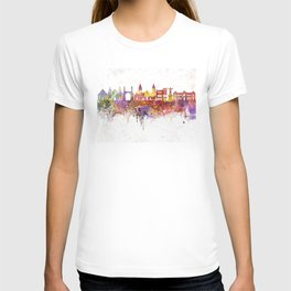 Lima skyline in watercolor background T-shirt